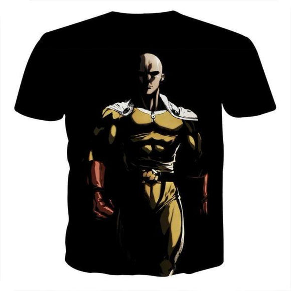One Punch Man Dark Saitama 3D Printed One Punch Man T Shirt