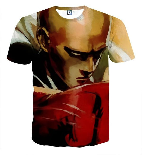 One Punch Man Hate Saitama 3D Printed One Punch Man T Shirt