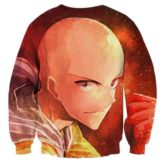 One Punch Man Simple Saitama 3D Printed One Punch Man Sweatshirt