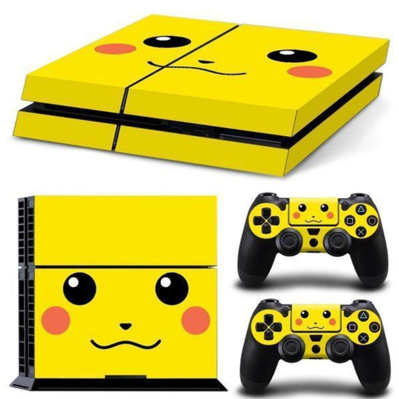 Pikachu Pokemon PS4 Sticker For Console And 2 Controller