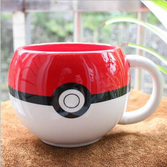 Poke Ball Ceramic Mug