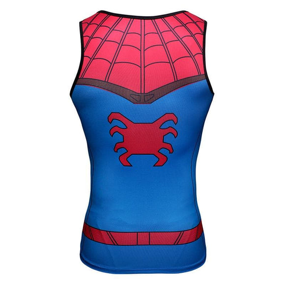 Spiderman 3D Printed Unisex Classic Spiderman Tank Top