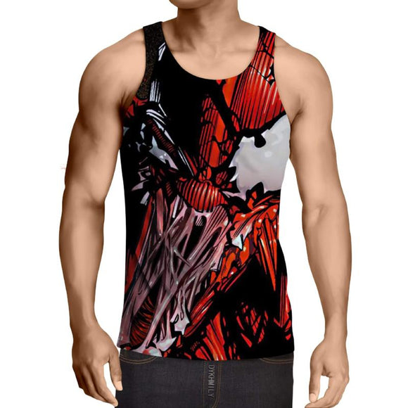 Spiderman 3D Printed Venemous Nior Red Spiderman Tank Top