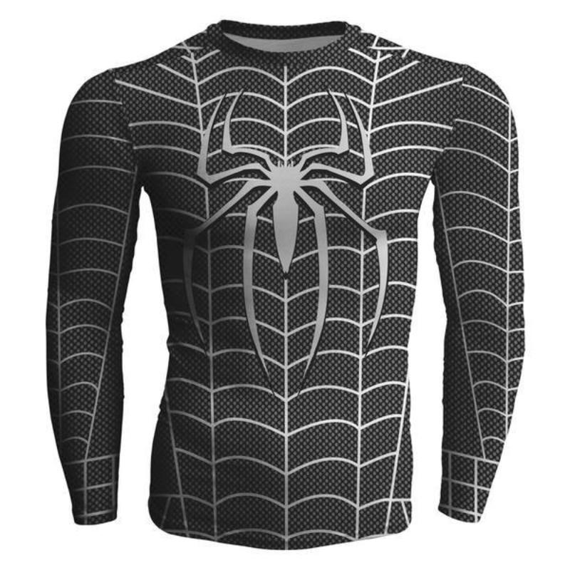 Spiderman Venom Black 3D Printed Spiderman Long Sleeve Shirt