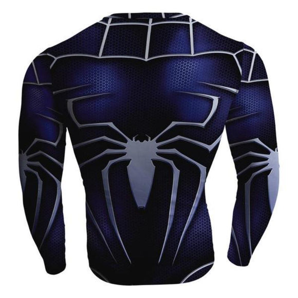 Spiderman Venom Colored Spiderman Long Sleeve Shirt