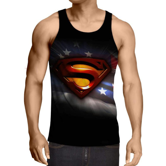 Superman America Hero 3D Printed Superman Tank Top