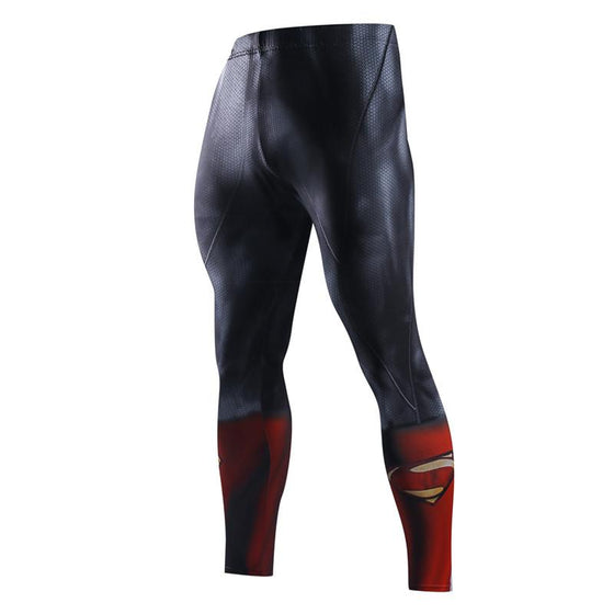Superman Pant 3D Printed Elastic Waist Superman Costume Pant
