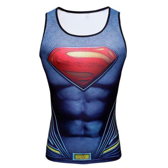 Superman Unisex 3D Printed Superman Tank Top