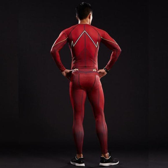 Red Elastic 3D Printed The Flash Pants