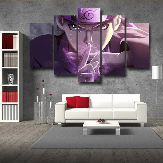 Uzumaki Naruto Purple 3D Printed Naruto Canvas
