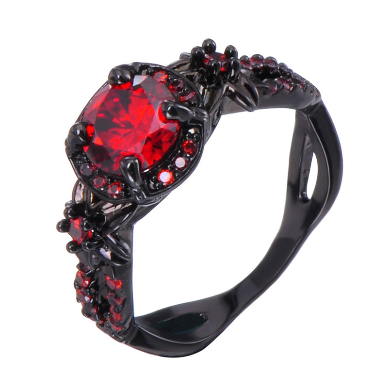 Black and Red Harley Quinn Ring