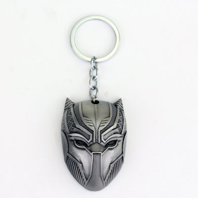 Black Panther Keychain Bronze Plated And Silver Plated