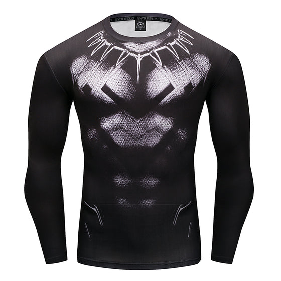 Black Panther: Compression 3D Printed T-shirts