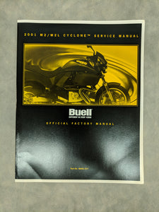 99491-01Y Buell M2/M2L Cyclone Official Factory Service Manual - 2001