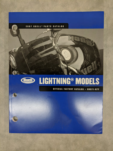 99571-07Y Buell Lightning Models Official Factory Parts Catalog - 2007