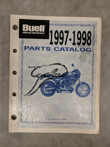 99572-98Y Buell M2 Cyclone Official Factory Parts Catalog - 1997-1998