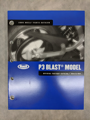 99573-06Y Buell P3 Blast Model - Official Factory Parts Catalog - 2006