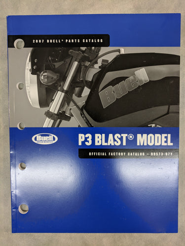 99573-07Y Buell P3 Blast Model - Official Factory Parts Catalog - 2007