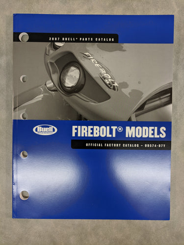 99574-07Y Buell Firebolt Models - Official Factory Parts Catalog - 2007