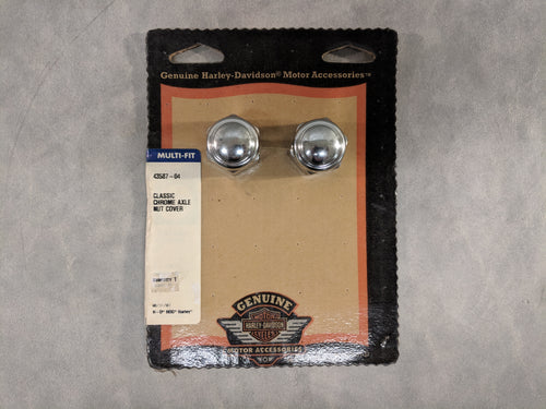 Chrome Button Head Front Axle Nut Cover Kit