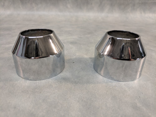 Chrome Fork Boot Caps
