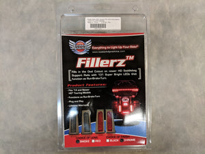 Fillerz Saddlebag Smoke LED Lights with Chrome Surround by Custom Dynamic