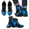 Faithful Poodles Blue Leather Boots for Men and Women