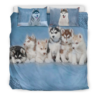 HUSKY FAMILY BEDDING SET