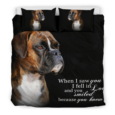 When I Saw You... boxer Bedding Set