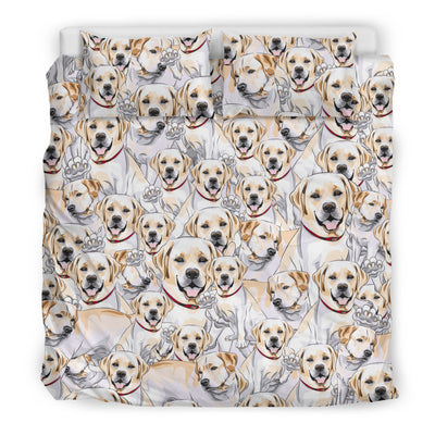CUTE LABRADOR RETRIEVER BEDDING SET
