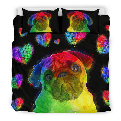 Love Pug Bedding Set for Lovers of Pugs