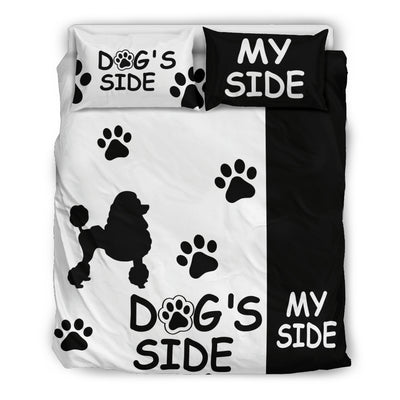 POODLE DOG'S SIDE MY SIDE BEDDING SET