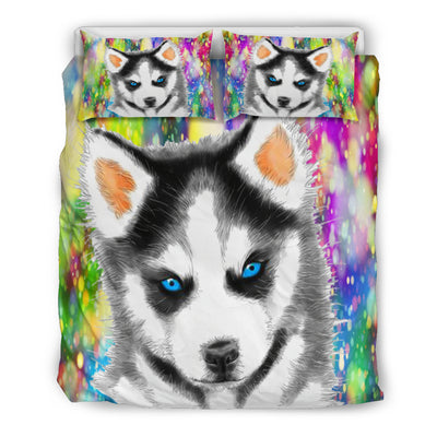 Husky Puppy Bedding Set