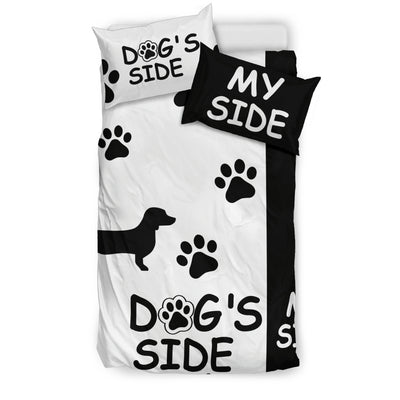 DACHSHUND DOG'S SIDE MY SIDE BEDDING SET