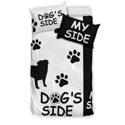 PUG DOG'S SIDE MY SIDE BEDDING SET