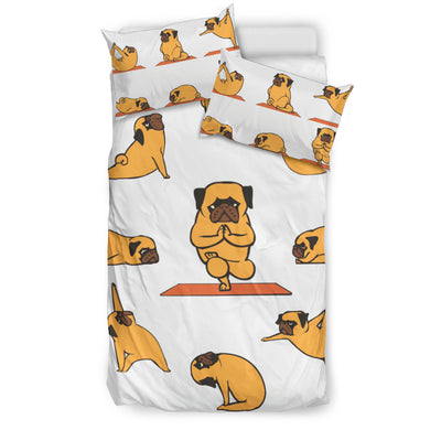 Pug Yoga Bedding Set