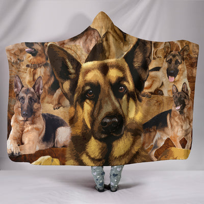 GERMAN SHEPHERD Hooded Blanket