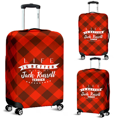 Life is better with my Jack Russell Terrier -  Luggage Cover