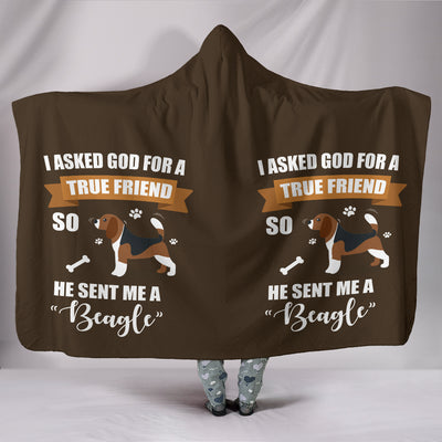 Custom Designed Hoodie Blanket Beagle My True