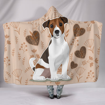 I Love Jack Russell Terriers Hooded Blanket