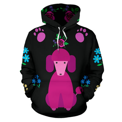 Faithful Poodle Dog All Over Print Hoodie