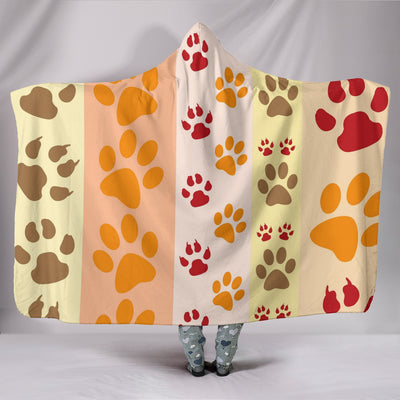 Paws and Stripes Hooded Blanket