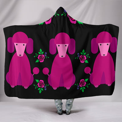 Pink Poodles Hooded Blanket