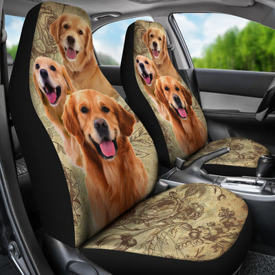 Golden Retriever Car Seat Covers (Set of 2)