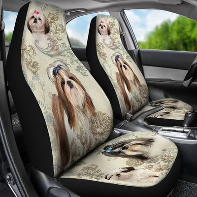 Shih Tzu Car Seat Covers (Set of 2)