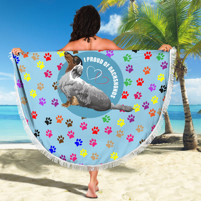 I Proud Of My Dachshunds Beach Blanket
