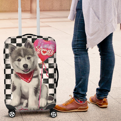 Husky Malamute Puppy Luggage Protective Cover