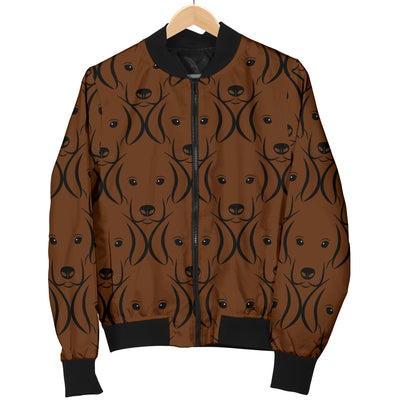 Chocolate Lab Womens Bomber Jacket