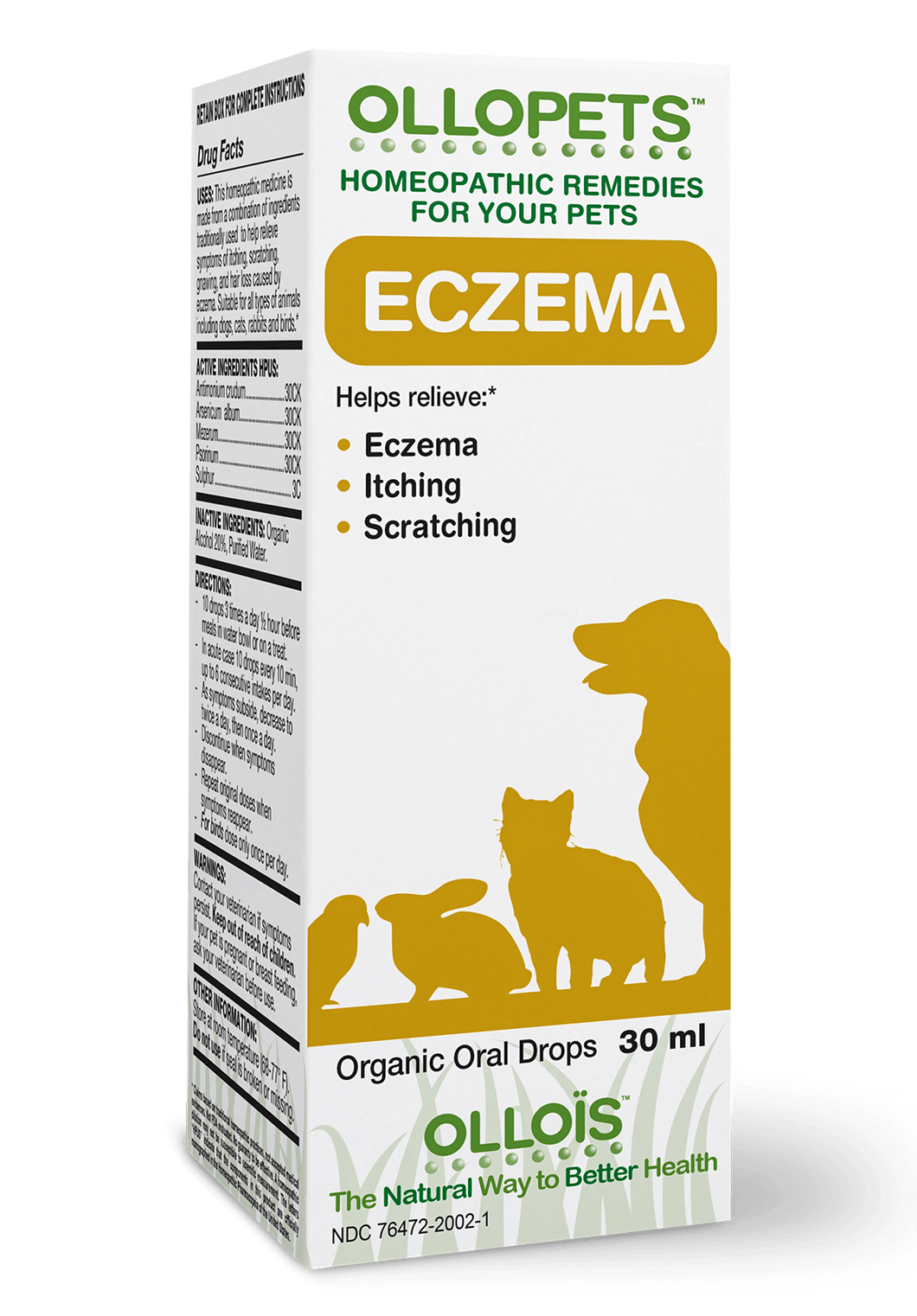 Ollopets Eczema - Homeopathic Remedy for Pets