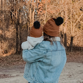 Organic Cotton Mama + Me Pom Hats